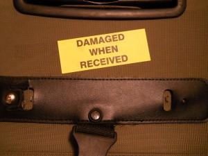 valise endommagée