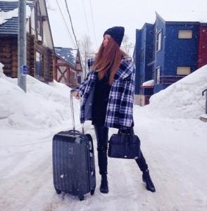 valise neige hiver